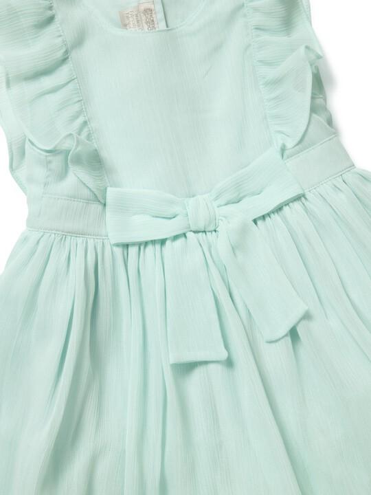فستان بتصميم مجعد أزرق image number 3