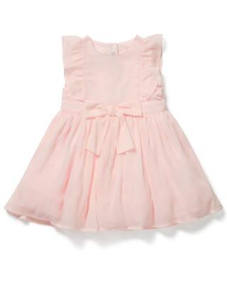 فستان بتصميم مجعد وردي