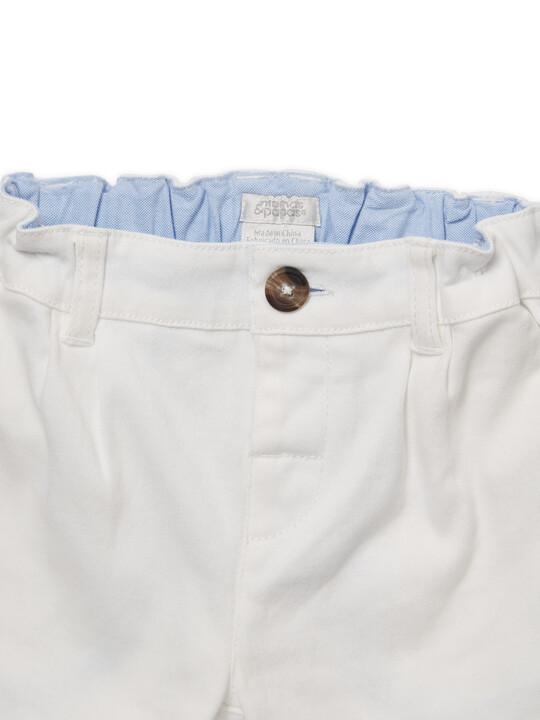 White Chino Shorts image number 4