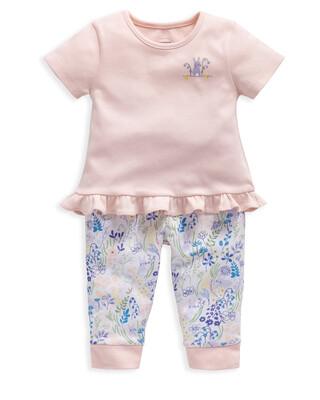 Floral Print Jersey Pyjamas