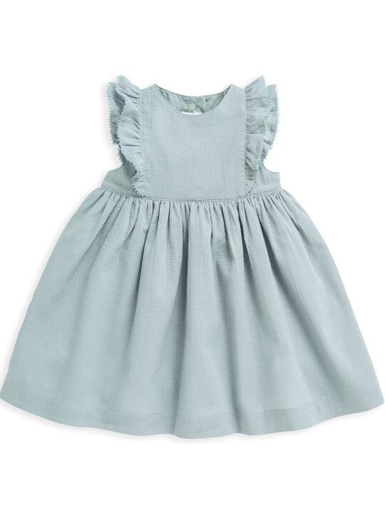 فستان منسوج بكشكش image number 4