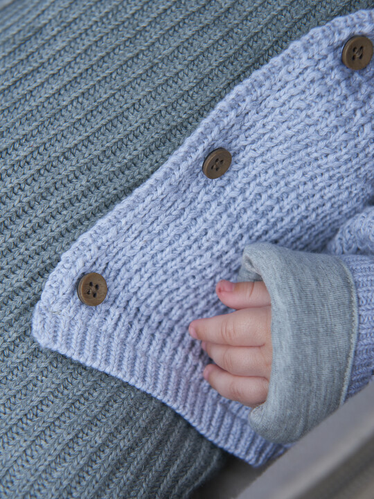 Grey Knitted Cardigan image number 6
