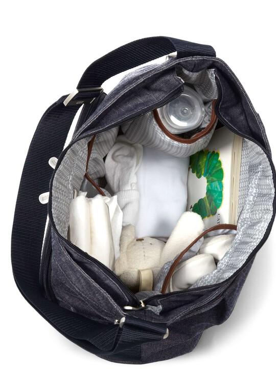 حقيبة تبديل الملابس المحمولة على الكتف Ellis من قماش الدنيم image number 3