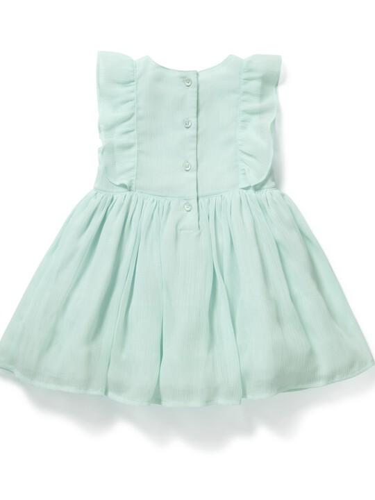 فستان بتصميم مجعد أزرق image number 2