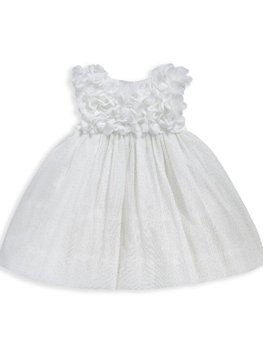 فستان مزين بزهور على الصدر image number 1