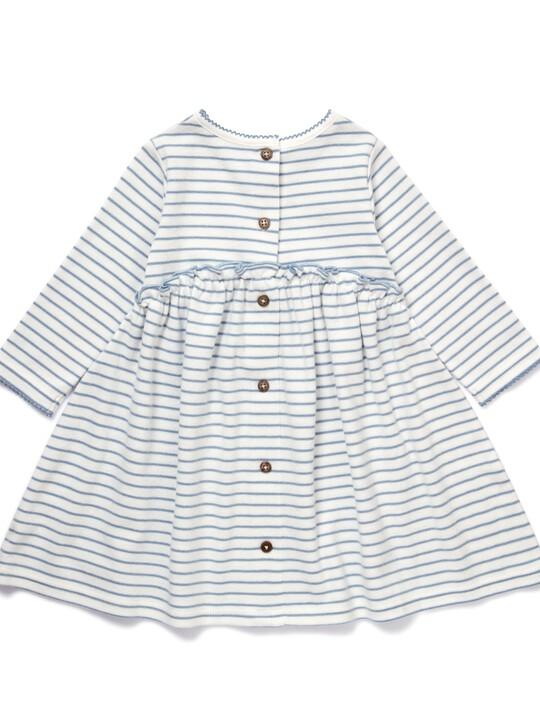 فستان جيرسيه مخطط image number 2