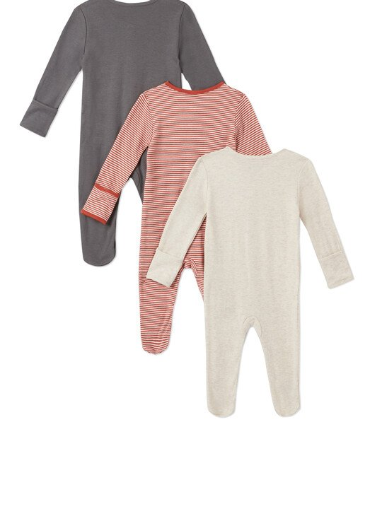 3Pack of  WILD Sleepsuits image number 2