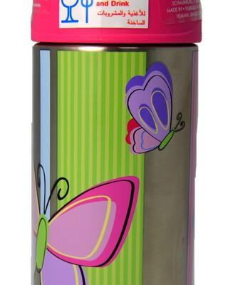 زجاجة مياه فانتينر ستانلس ستيل 355 ملل بنقشة فراشة - ثيرموس